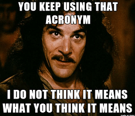 Security acronyms are everywhere - time to read up!