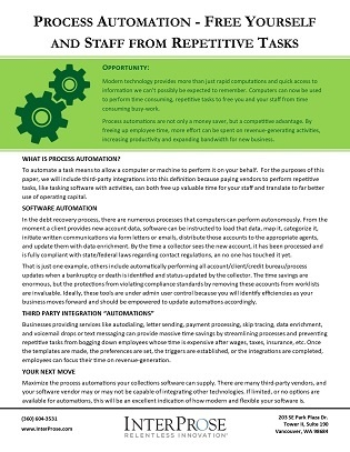 Process Automation eGuide - CLICK HERE